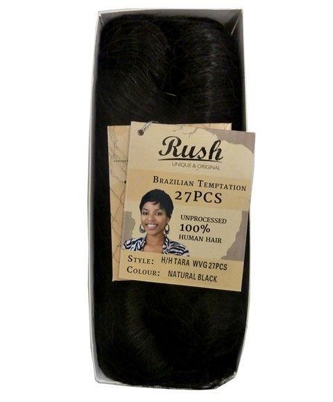 Rush Brazilian Temptation 100% Human Hair 27 Pcs - Natural Black