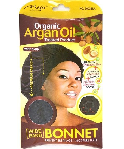 Magic Collection Women's Organic Argan Oil Treated Bonnet - 3003bla