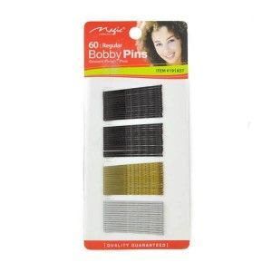 Magic Collection 60 Regular Bobby Pins - 191ast - Assorted Colors