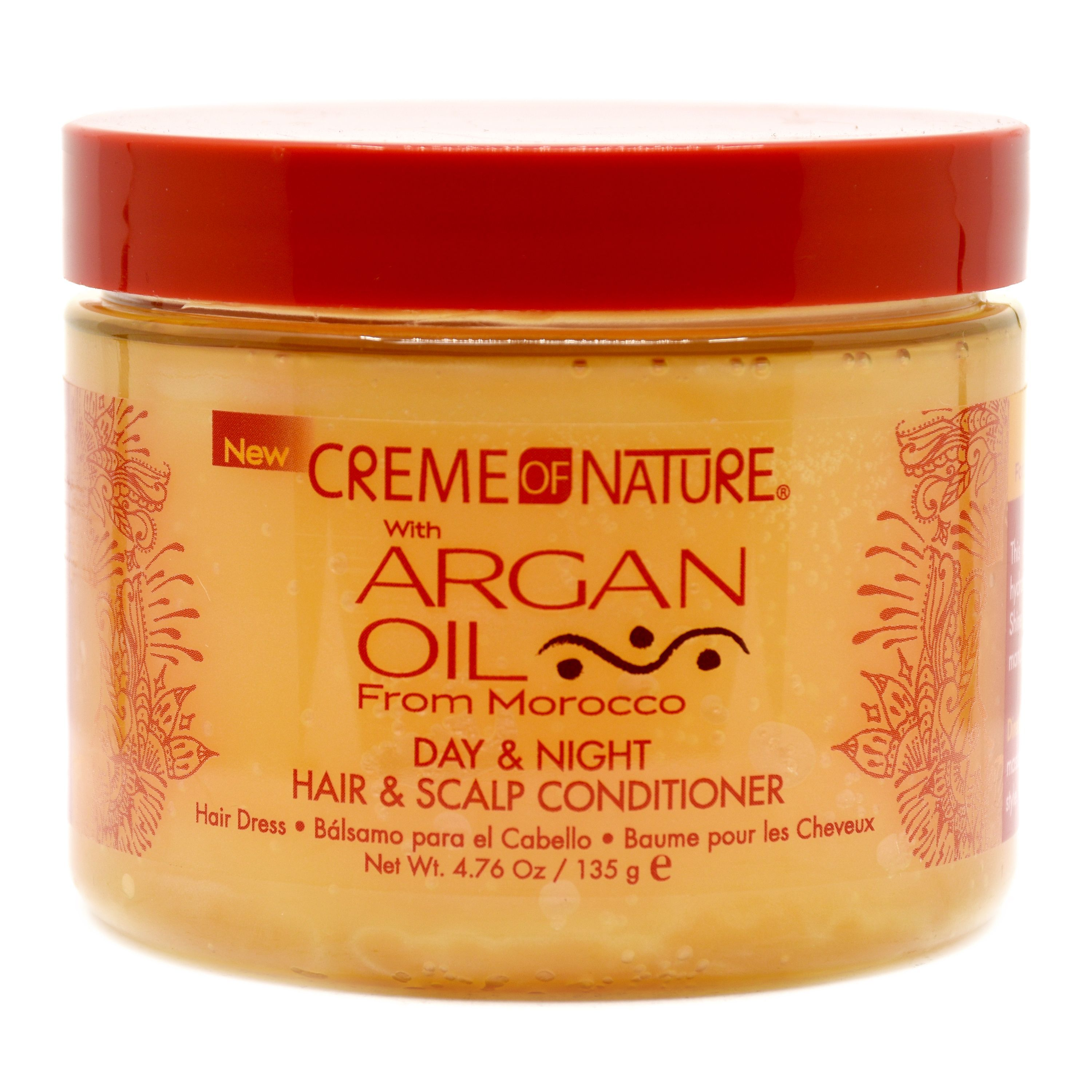 Creme Of Nature Argan Oil Day & Night Hair & Scalp Conditioner Hairdress - 4.76oz
