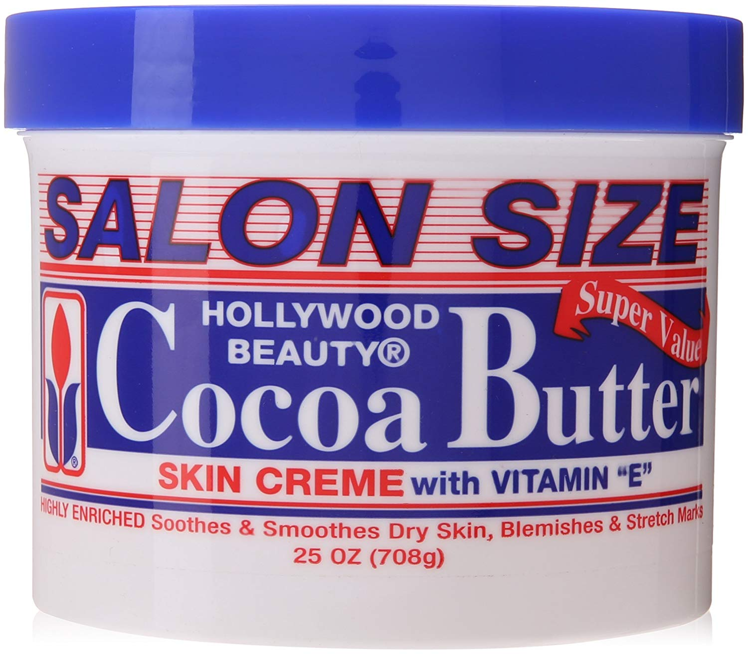 Hollywood Beauty Cocoa Butter Skin Creme With Vitamin E - 25oz