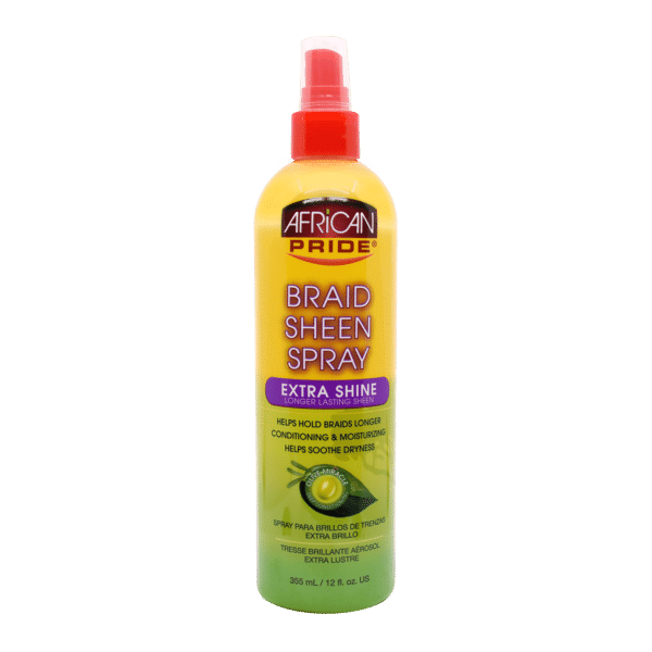 African Pride Olive Miracle Braid Sheen Spray Extra Shine - 355ml