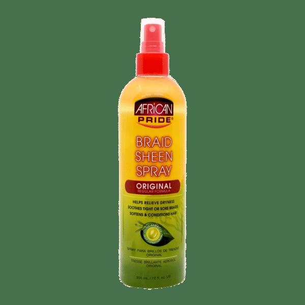 African Pride Olive Miracle Braid Sheen Spray Original - 355ml