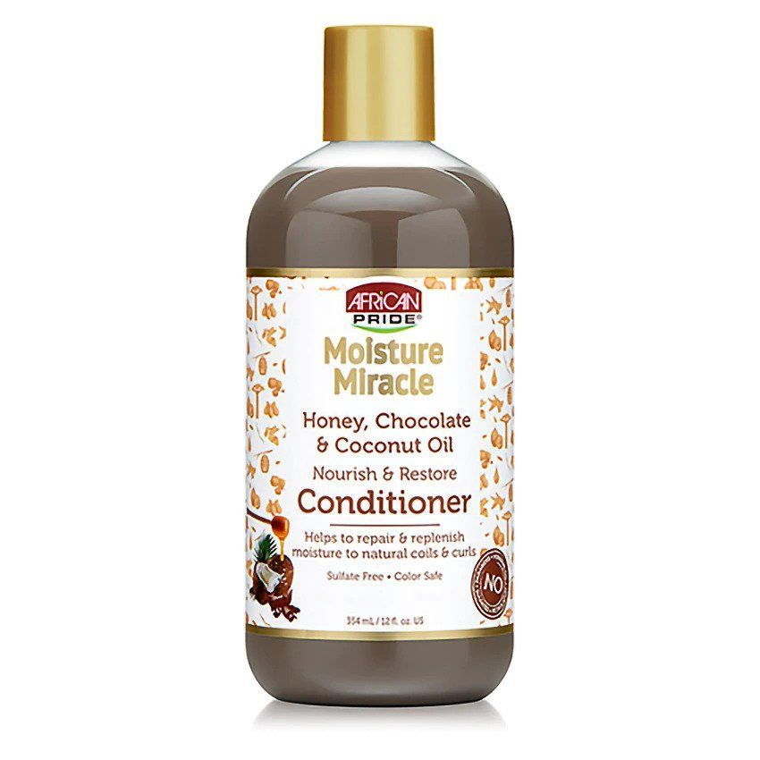 African Pride Moisture Miracle Honey, Chocolate & Coconut Oil Conditioner - 354ml
