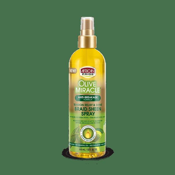 African Pride Olive Miracle Anti-Breakage Braid Sheen Spray - 355ml