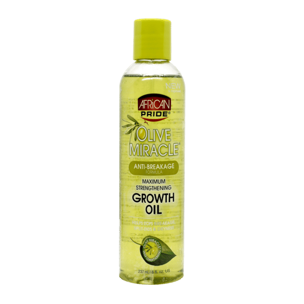 African Pride Olive Miracle Anti-Breakage Maximum Strengthening Growth Oil - 237ml