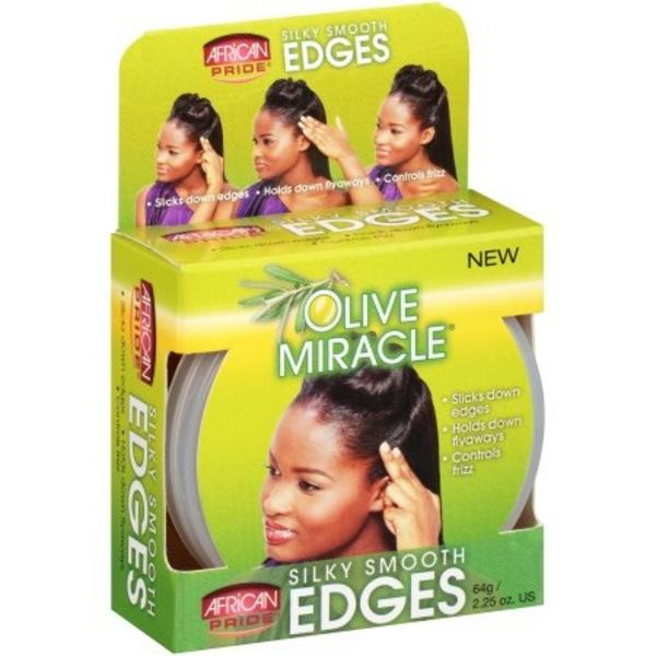 African Pride Olive Miracle Silky Smooth Edges - 2.25oz