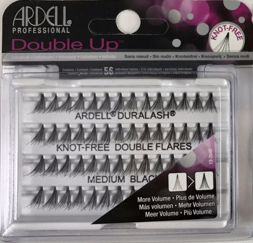 Ardell Double Individuals Knot Free Double Flares - Black Medium