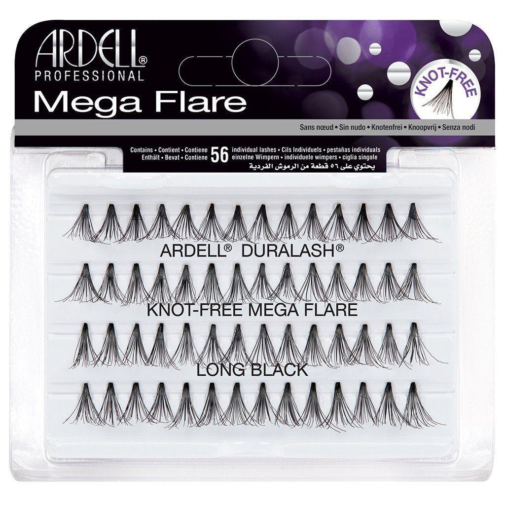 Ardell Mega Flare Individual Knot Free Long Black Lashes