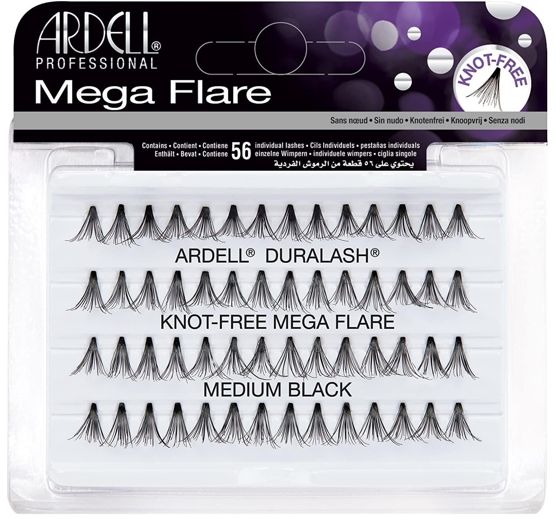 Ardell Mega Flare Individual Knot Free Medium Black Lashes
