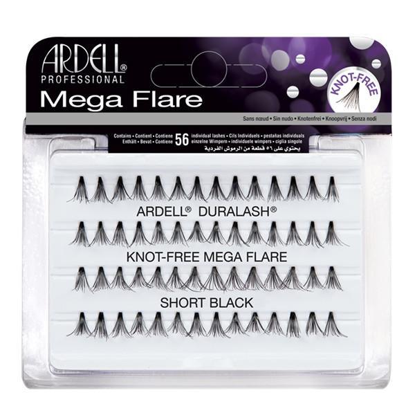 Ardell Mega Flare Individual Knot Free Short Black Lashes