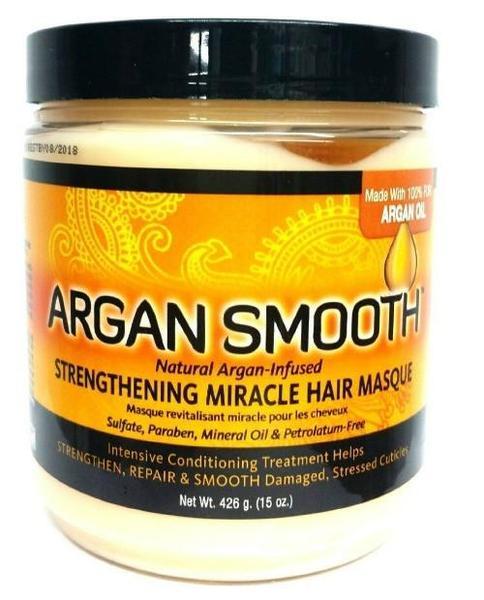 Argan Smooth Strengthening Miracle Hair Masque - 15oz