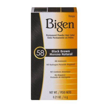 Bigen Permanent Powder Hair Colour - Black Brown