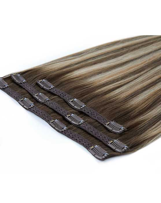 """Beauty Works Deluxe Clip-In Hair Extensions - Jet Black,16"""""""