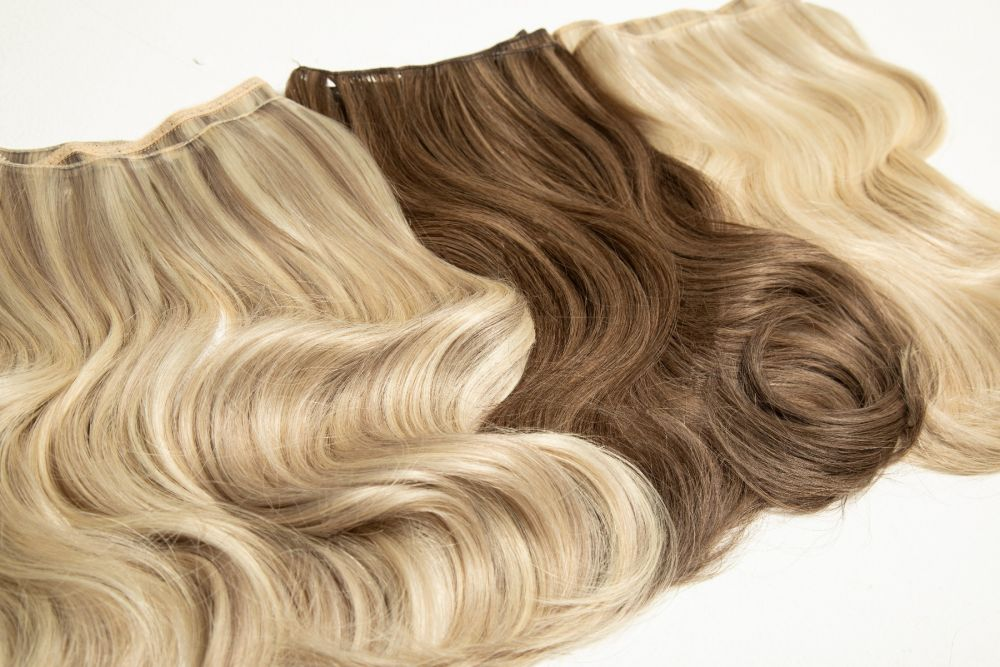 """Beauty Works Gold Double Weft Extensions - Amber,18"""""""