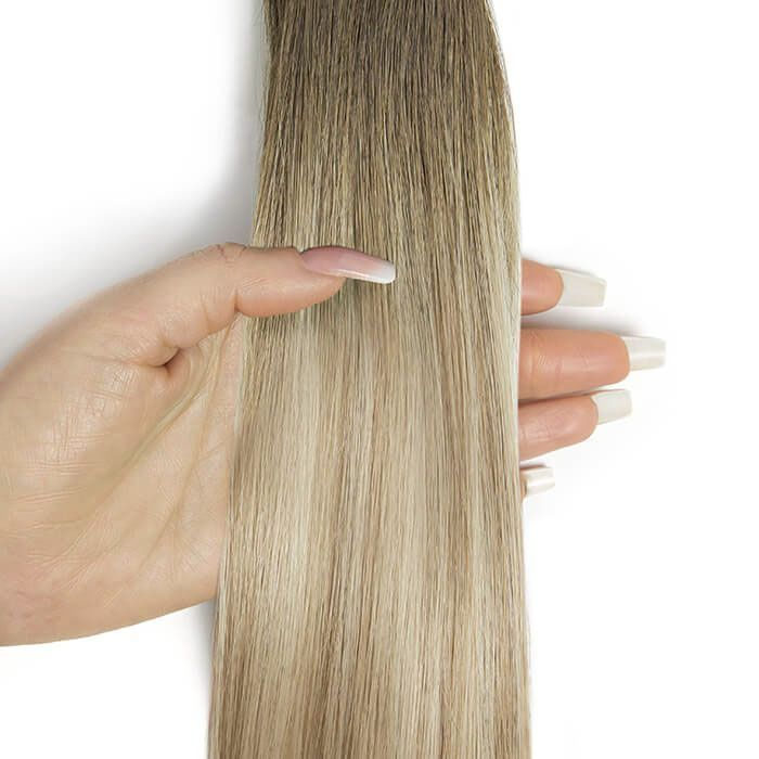 """Beauty Works Invisi®-Tape Hair Extensions - Pure Platinum,18"""""""