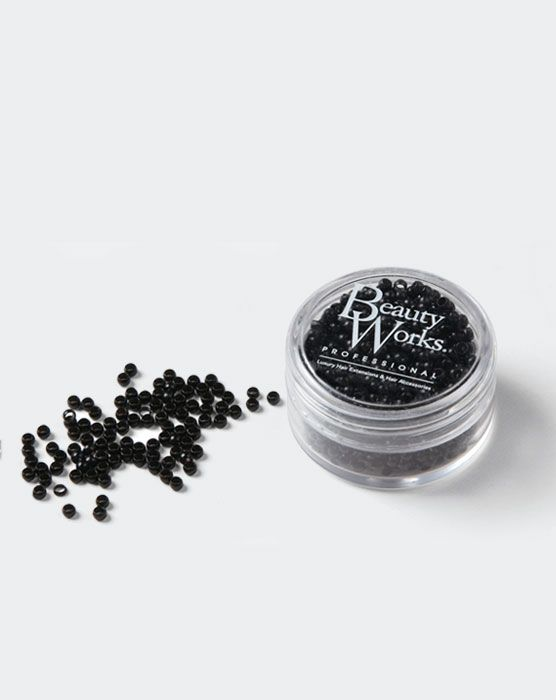 Beauty Works Nano Micro Rings - Black,1000