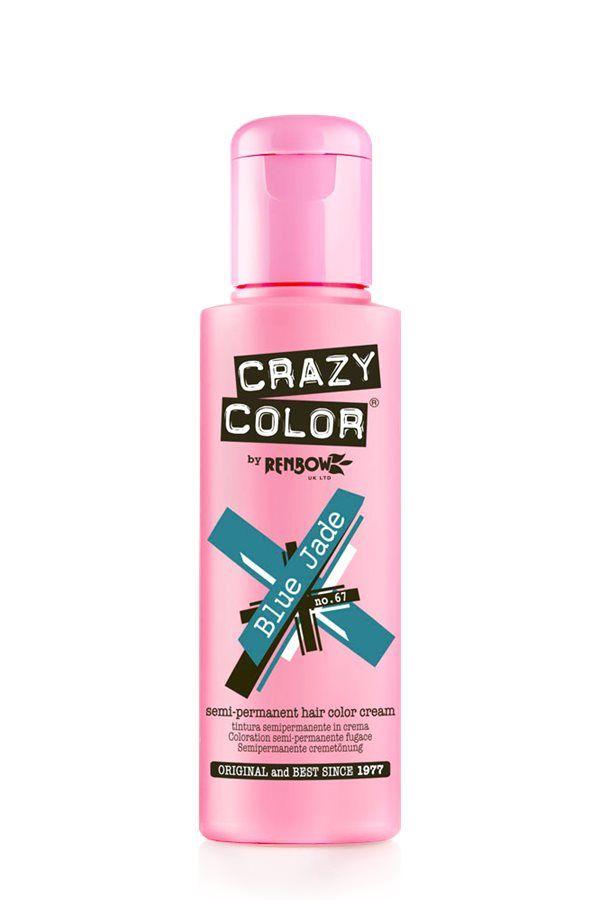 Crazy Color Semi Permanent Hair Color Cream - Blue Jade