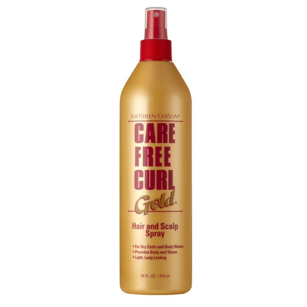 Care Free Curl Gold Hair & Scalp Spray - 16oz