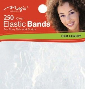 Magic Collection 250 Elastic Bands Crystal - 332
