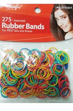 Magic Collection 275 Rubber Bands Assorted - 2751 - Assorted Colors