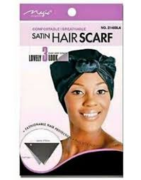 Magic Collection Women's Satin Hair Scarf - 2146Bla