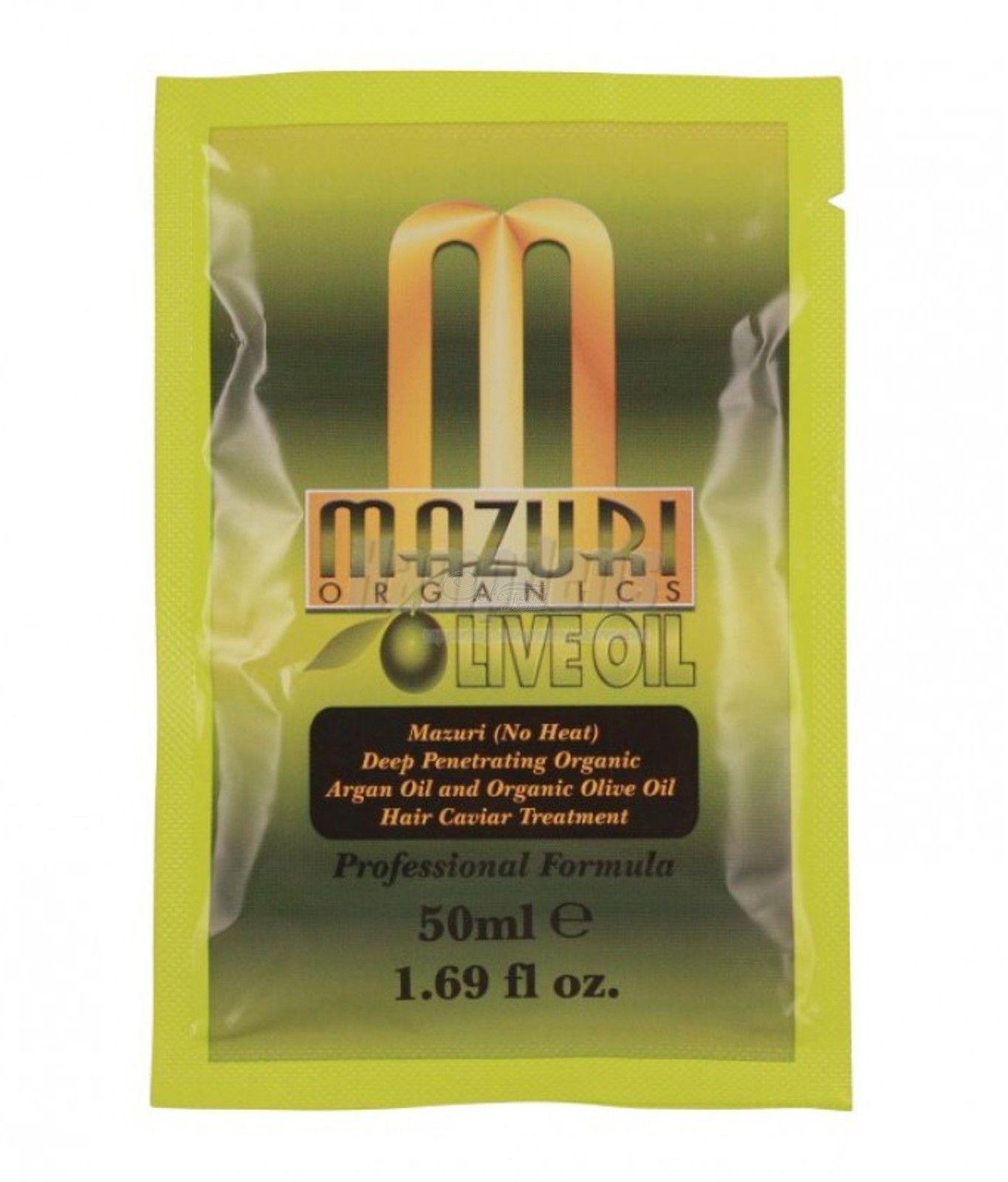 Mazuri Olive Oil & Argan Oil Deep Penetrating Hair Caviar Treatment - 50ml