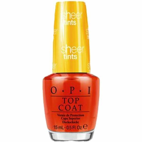 OPI Sheer Tints Top Coat 15ml - I'm Never Amberrassed NTS01
