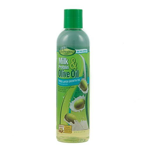 Sofn'Free GroHealthy Milk Protein & Olive Oil Three-Layer Growth Oil - 8oz