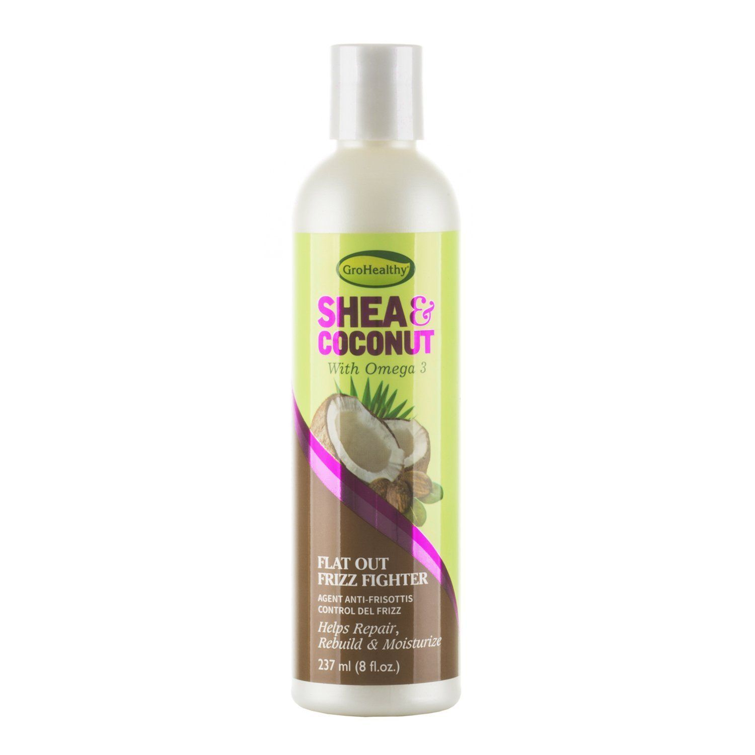 Sofn'Free GroHealthy Shea & Coconut Flat Out Frizz Fighter - 8oz