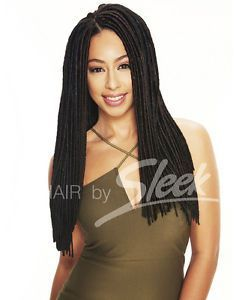 Sleek Fashion Idol Express Jamaica Faux Locks 18'' - Jet Black
