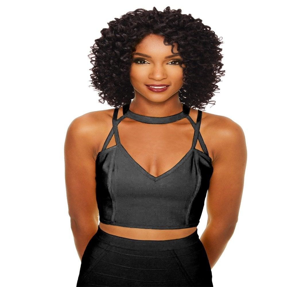 Sleek Synthetic Wig Hannah - Jet Black