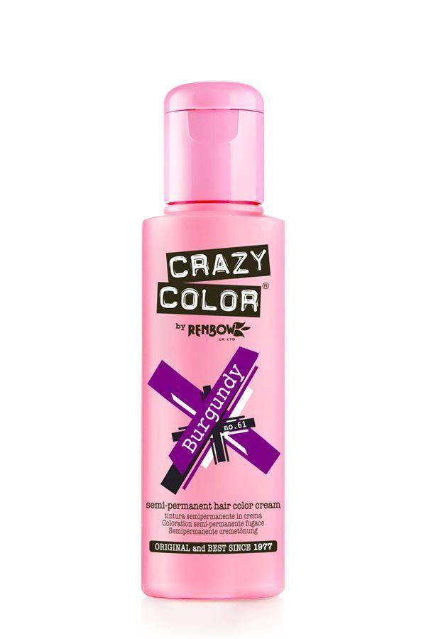 Crazy Color Semi Permanent Hair Color Cream - Burgundy