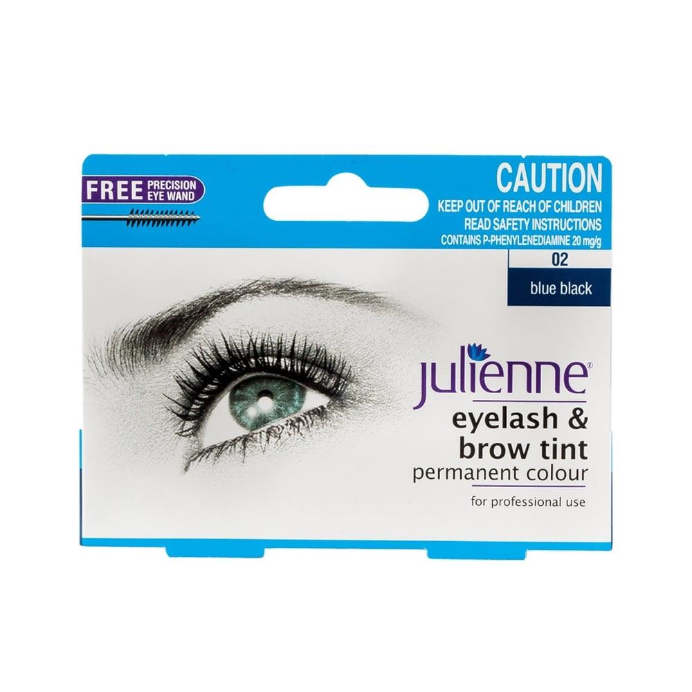 Julienne Eyelash & Brow Tint Permanent Colour - Blue Black