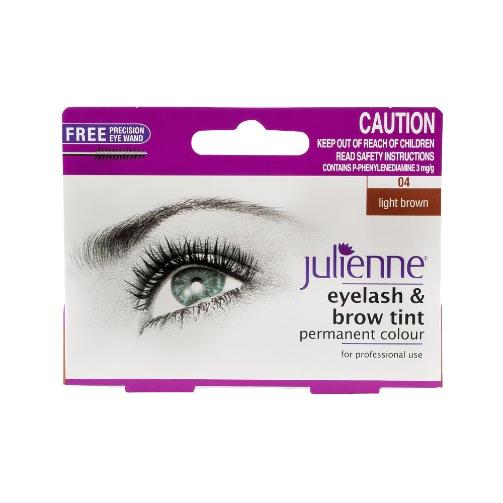 Julienne Eyelash & Brow Tint Permanent Colour - Light Brown