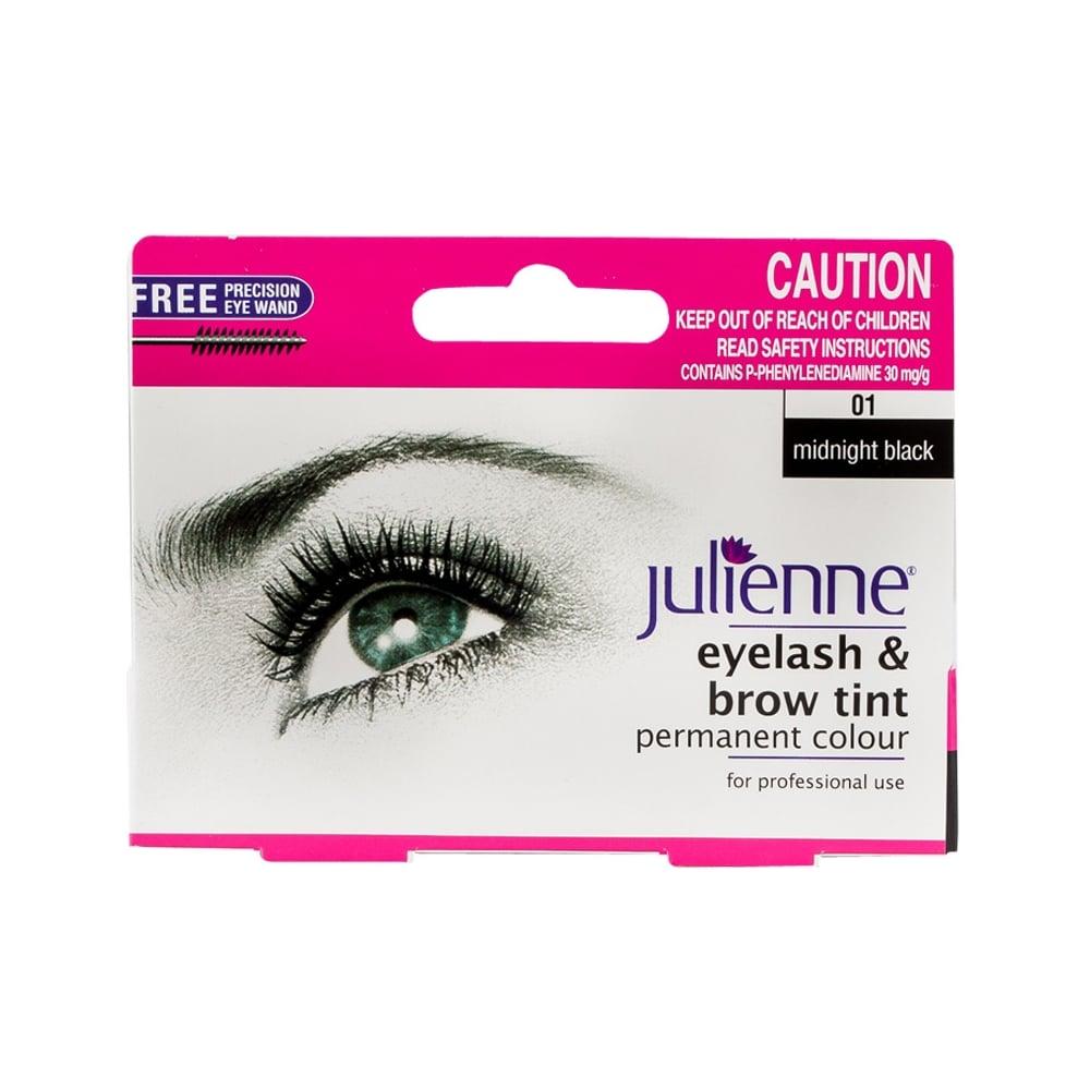 Julienne Eyelash & Brow Tint Permanent Colour - Midnight Black