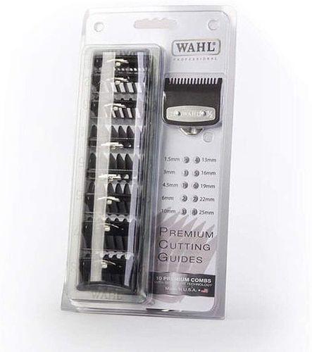 Wahl Premium Cutting Guides - 10 Premium Combs Black