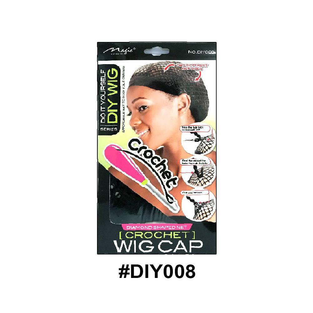 Magic Collection Crochet Wig Cap Diy008