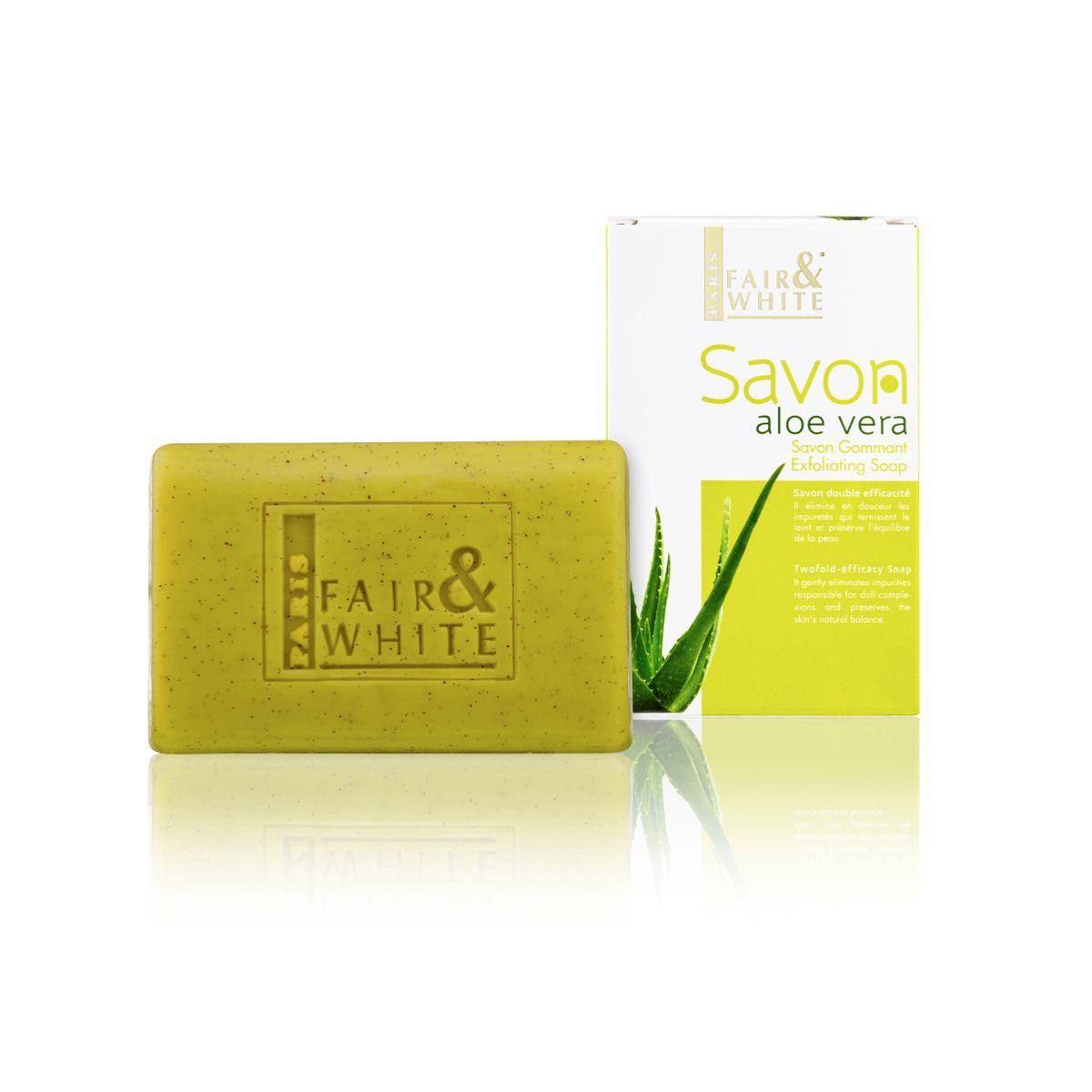 Fair & White Original Aloe Vera Savon Gommant Exfoliating Soap - 200g