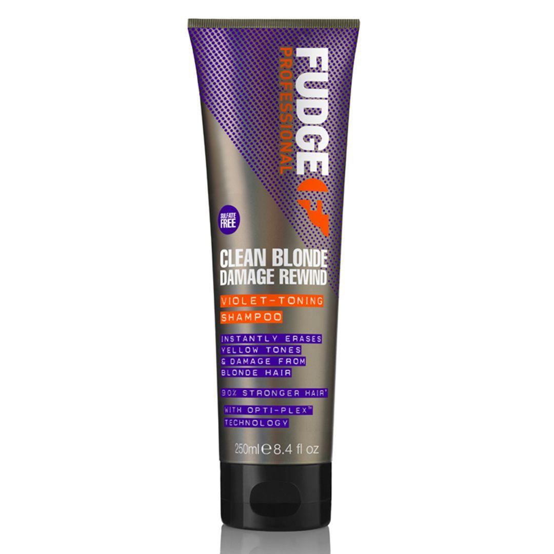 Fudge Clean Blonde Damage Rewind Violet Toning Shampoo - 250ml