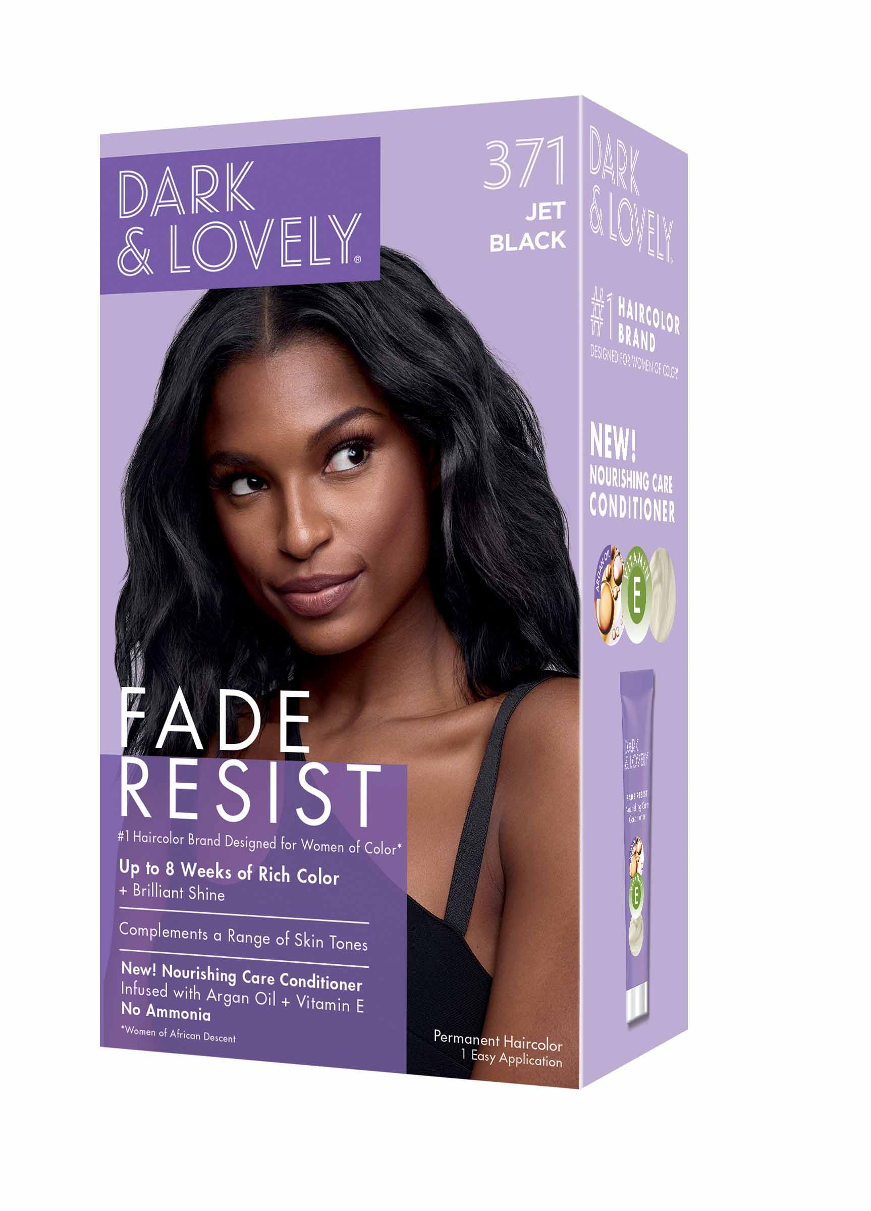 Dark and Lovely Fade Resistant Rich Conditioning Hair Color - Jet Black,371