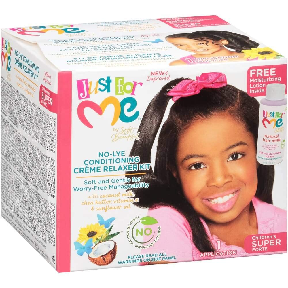 Just For Me No-lye Conditioning Crème Relaxer Kit - Regular