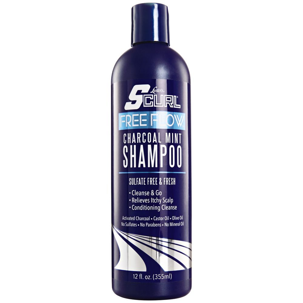 Luster's SCurl Free Flow Charcoal Mint Shampoo - 355ml