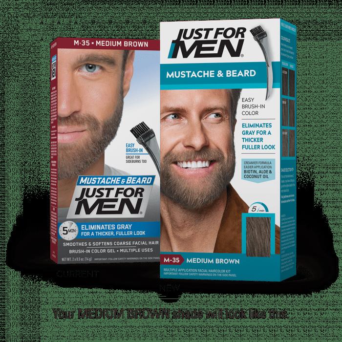 Just For Men Moustache & Beard Color - Medium Brown