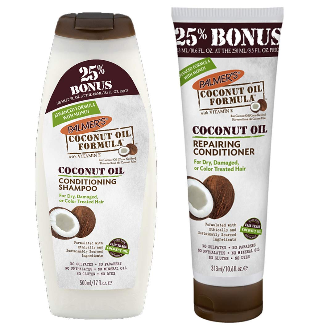 Palmer's Coconut Oil Conditioning Shampoo & Repairing Conditioner - 250-400ml