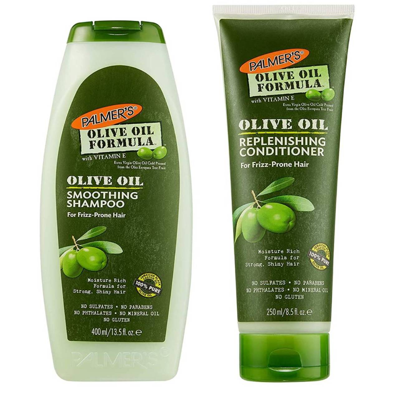 Palmer's Olive Oil Smoothing Shampoo & Replenishing Conditioner - 250-400ml