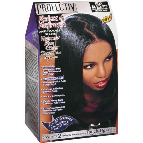 Profectiv Relax & Refresh Anti-Damage No-Lye Relaxer Plus Color - Silky Black