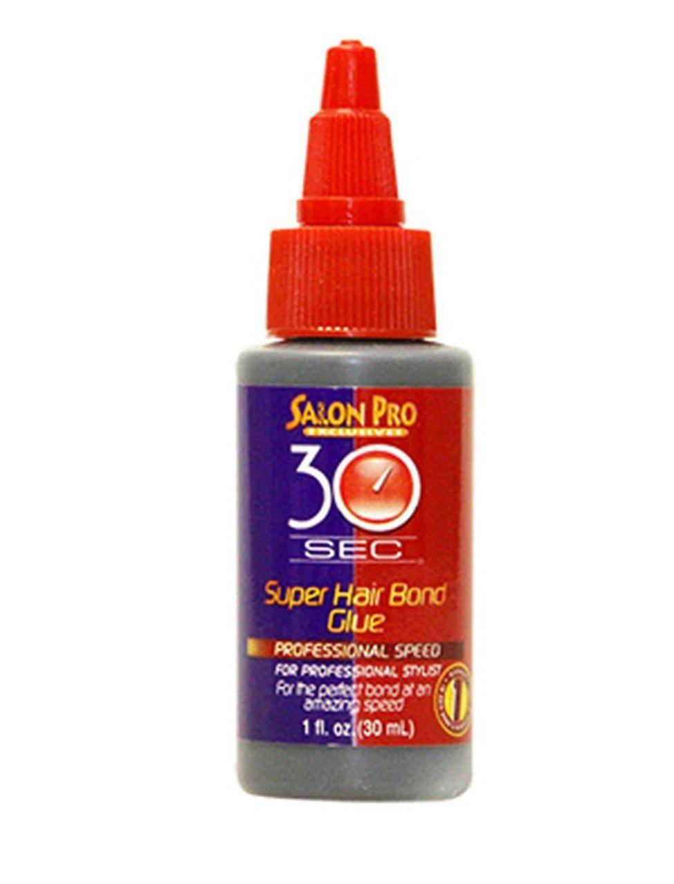 Salon Pro 30 Sec Super Hair Bonding Glue - Black - 1oz