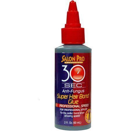 Salon Pro 30 Sec Super Hair Bonding Glue - Black - 2oz