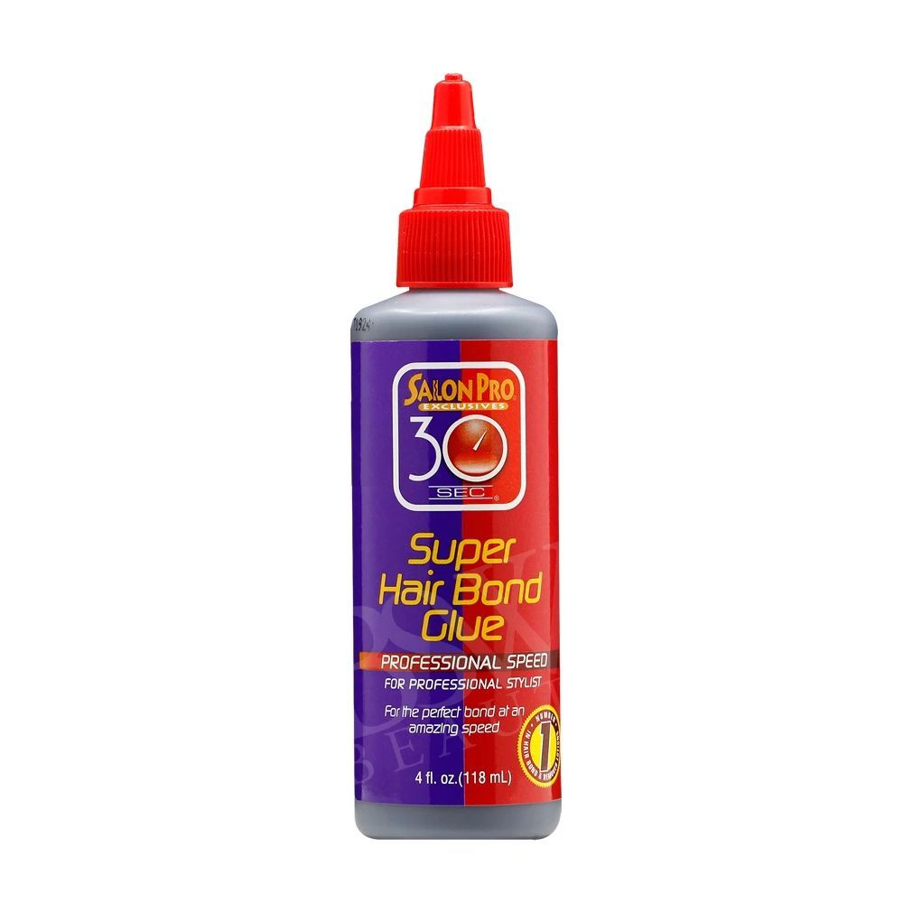 Salon Pro 30 Sec Super Hair Bonding Glue - Black - 4oz